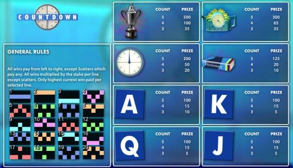 Countdown Gewinne
