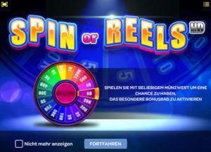 Spin or Reels Bonus